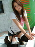 Lovely Asian teen undresses to show off her hot…