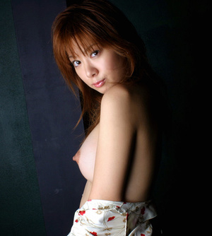 Red Asian slut demonstrating her small tits and shaggy pussy - XXXonXXX - Pic 3