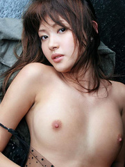 Bodacious Japanese cutie pose naked in transparent - XXXonXXX - Pic 4