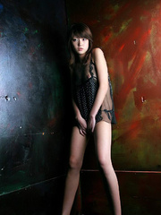 Bodacious Japanese cutie pose naked in transparent - XXXonXXX - Pic 10
