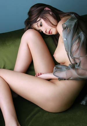 Bodacious Japanese cutie pose naked in transparent shirt - XXXonXXX - Pic 11