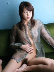 Bodacious Japanese cutie pose naked in transparent - XXXonXXX - Pic 12