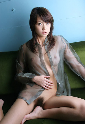Bodacious Japanese cutie pose naked in transparent shirt - XXXonXXX - Pic 12