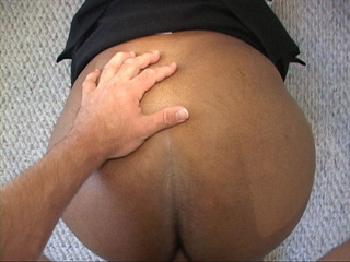 Chubby ebony slut gets her snatch screwed with a white - Picture 1