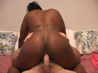 Black ponytailed bitch in a pink vest  gets banged - Picture 4