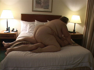 Dirty fat bitch riding on bald dude's boner passionately - Picture 3