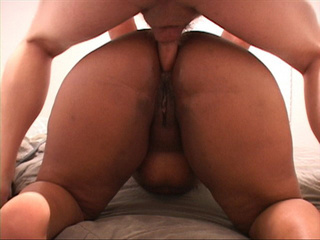 Nasty black fatso gets her pooper rimmed and finally - Picture 2