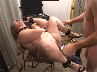 Dominated BBW in dog-leash and cuffs gets her both holes - Picture 4