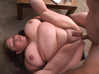 Busty fat bitch gets her pooper rimmed with a thick - Picture 1