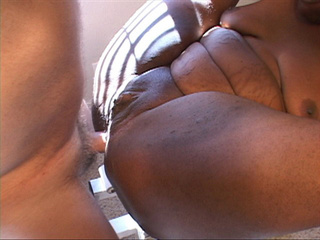 Nasty black fatty gets banged hard into her chocolate - Picture 4