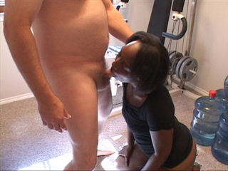 First this ebony milf slut gets her face drilled hard - Picture 1