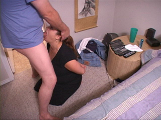 Busty fat bitch swallows a long dong kneeling - Picture 2