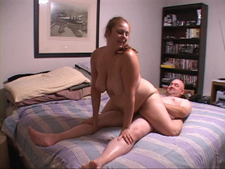 Fat ponytailed bitch riding a boner backwards - Picture 2