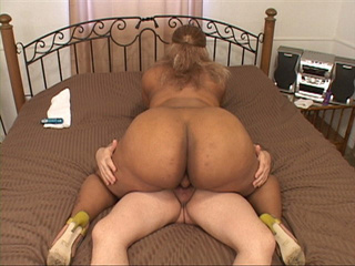 Bootylicious ebony slut gets assfucked in doggy style - Picture 2