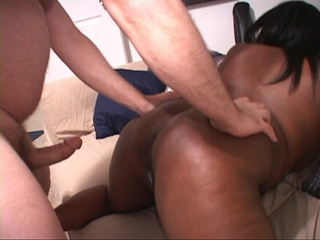 Fat black mom gets her cooch plugged with a white dick - Picture 2