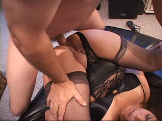 Nasty Mexican granny in stockings gets her old cunt - Picture 2
