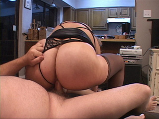Old Mexican slut in stocking gets her asshole plugged - Picture 3
