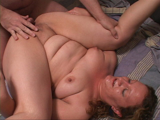 Chubby blonde bitch gets her asshole drilled badly with - Picture 1
