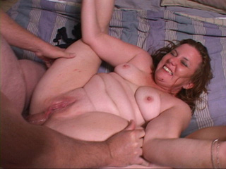 Chubby red milf gets banged in various poses - Picture 1