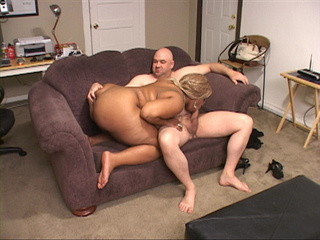 Ebony BBW with huge tits gets naked and blows man's meat - Picture 4