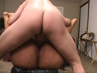 Nasty ebony BBW gets her asshole stuffed with a white - Picture 4