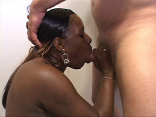 Busty ebony lady gets her face fucked when sitting on - Picture 4
