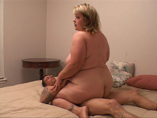 Chubby blonde mom gets fucked variously by two horny - Picture 2