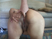 curly chubby mom gagging