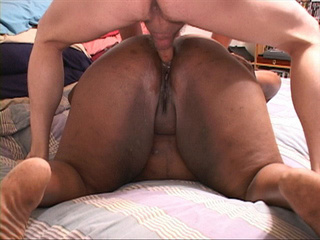 Horny dude drilling hard black fat ass with his thick - Picture 4