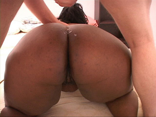Plump black mamasita gets her pooper drilled badly by a - Picture 4
