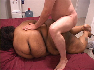Fat old cunt gets her black ass rimmed eagerly in doggy - Picture 1