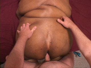 Fat old cunt gets her black ass rimmed eagerly in doggy - Picture 3