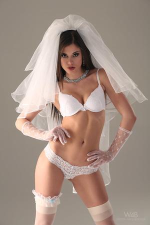 Teen bride in wedding dress - XXX Dessert - Picture 9