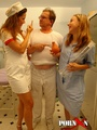 Teen, nurse and man in glasses pissing - Picture 3