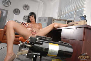 Lovely shemale in a yellow dress enjoys getting her pooper drilled hard - XXXonXXX - Pic 8