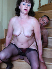 Brunette mature lady in black hse - Sexy Women in Lingerie - Picture 14