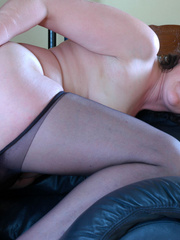 Brunette mature lady in black hse - Sexy Women in Lingerie - Picture 17
