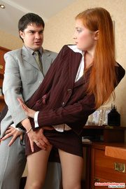 ginger mature secretary seduced