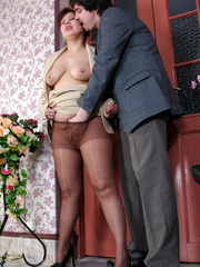Chubby mature business woman gets - Sexy Women in Lingerie - Picture 9