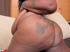 Black fat nurse with unbelievable tits rides black boner - Picture 6