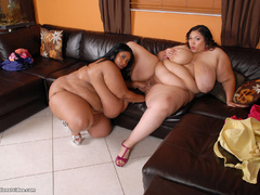 Black guy pounds latina and ebony fatties - Picture 12