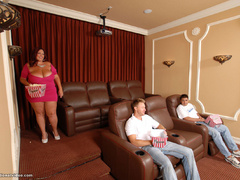 Fat red mature sucks two cocks at once - Picture 4