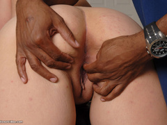 Blonde fat babe banged by black guy - Picture 7
