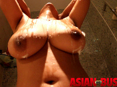 Hot Asian bitch with big tits taking shower - XXXonXXX - Pic 11