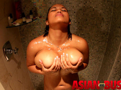 Hot Asian bitch with big tits taking shower - XXXonXXX - Pic 13