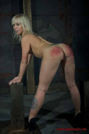 Tattooed blonde tied hard for bad painfu - XXX Dessert - Picture 7