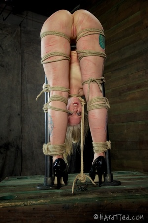 Tattooed blonde tied hard for bad painfu - XXX Dessert - Picture 10