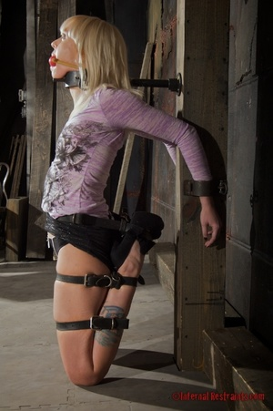 Tattooed blonde tied hard for bad painfu - XXX Dessert - Picture 11