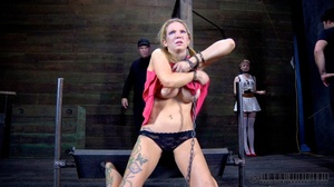 Pigtailed blonde slave gets enchained an - XXX Dessert - Picture 12