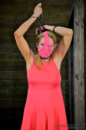 Pigtailed blonde slave gets enchained an - XXX Dessert - Picture 14